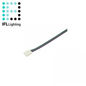 Cable Conector Rapido Tira LED 12V RGB 10mm 4 PIN