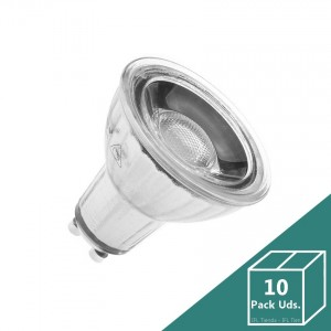 Lámparas LED GU10 Regulable COB Cristal 7W (Pack 10 Uds.)