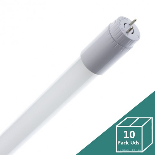 Tubo LED T8 Glass 1200mm Conexión un Lateral 18W 130lm/W (Pack 10 Uds.)