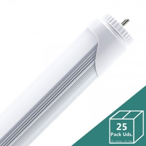 Tubo LED T8 1200mm Conexión un Lateral 18W (Pack 25 Uds.)