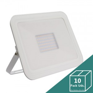 Foco LED Slim Cristal 50W Blanco (Pack 10 Uds.)