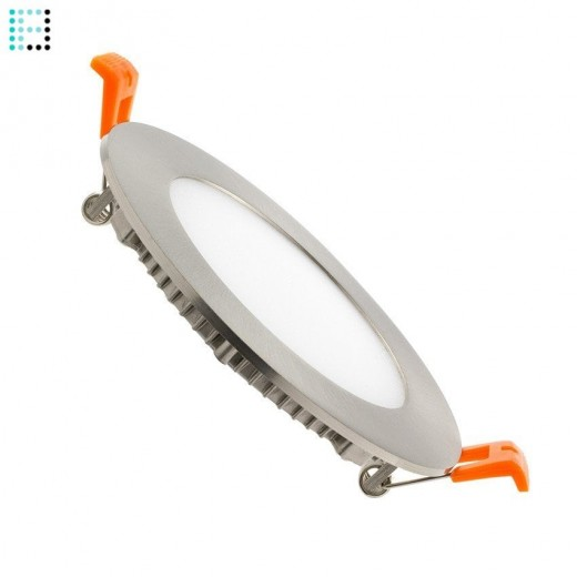 Downlight LED Circular básico 6W Marco Plata