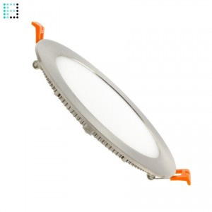 Downlight LED Circular básico 12W Marco Plata
