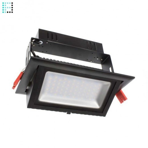 Foco Proyector LED Samsung 120lm/W Direccionable Rectangular 28W Negro Regulable 1-10v
