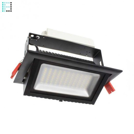 Foco Proyector LED Samsung 120 lm/W Direccionable Rectangular 48W Negro Regulable 1-10v