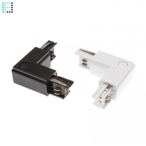 Conector Tipo L para Carril Trifasico