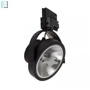 Foco LED Cree AR111 15W Regulable Negro para Carril Trifásico