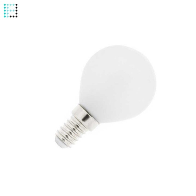 Bombilla LED E14 Esférica Glass 4W