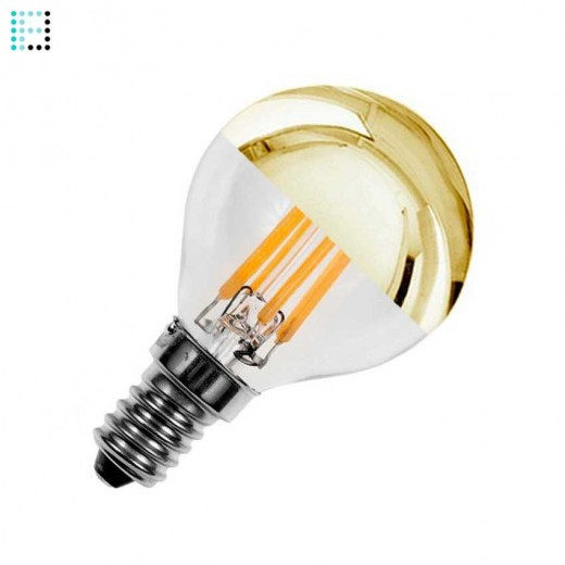 Bombilla LED E14 Regulable Filamento Gold Reflect G45 3.5W