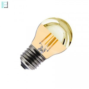 Bombilla LED E27 Regulable Filamento Gold Reflect G45 3.5W