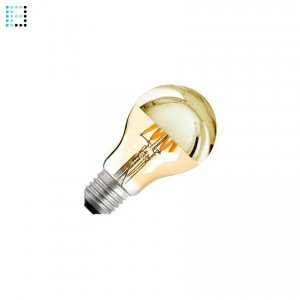 Bombilla LED E27 Regulable Filamento Gold Reflect A60 6W