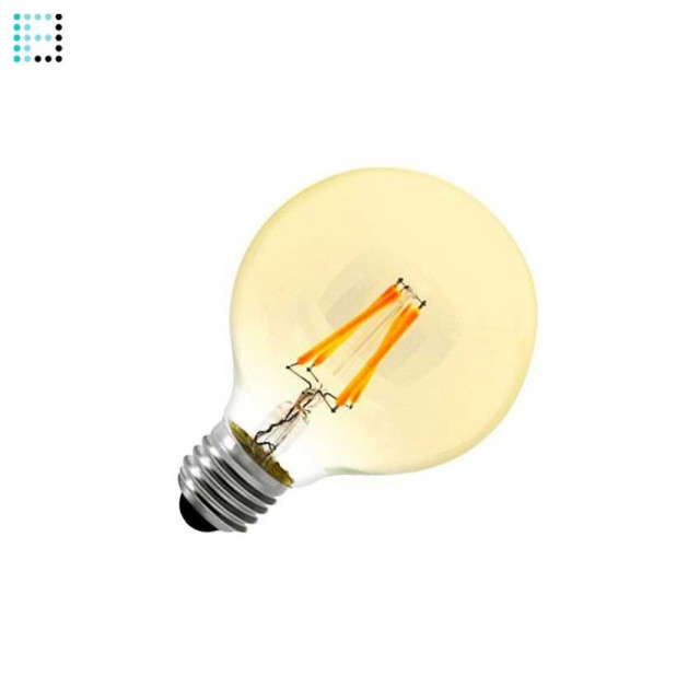 Bombilla LED E27 Regulable Filamento Gold Globo G80 6W