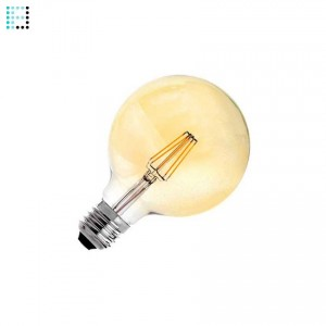 Bombilla LED E27 Regulable Filamento Gold Planet G95 6W