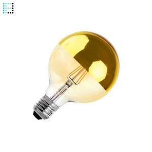 Bombilla LED E27 Regulable Filamento Gold Reflect Supreme G125 6W