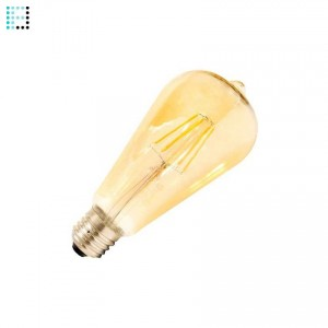 Bombilla LED E27 Regulable Filamento Gold Lemon ST64 5.5W