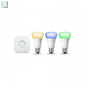 Kit de Inicio Philips Hue 3xE27 9W Color Ambiance