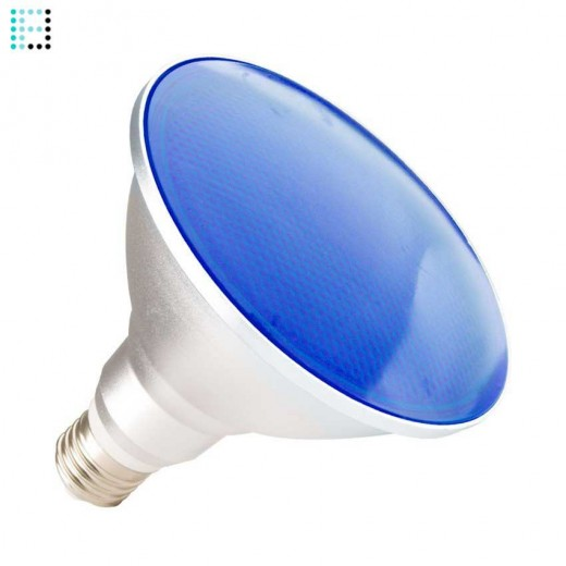 Lámpara LED E27 PAR38 15W Waterproof IP65 Luz Azul