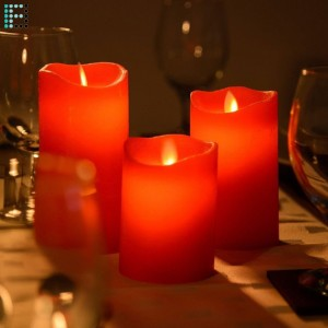 Pack de 3 Velas LED Color Rojo Special Flame