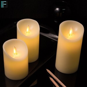 Pack de 3 Velas LED Color Marfil Special Flame